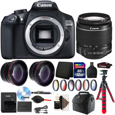Canon EOS Rebel 1300D/T6  DSLR Camera + 18-55mm with Deluxe Accessory Kit