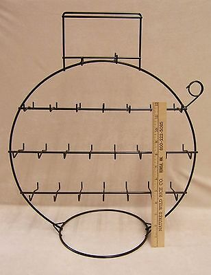 Jewelry Display Stand Rack  Black Wire Round Circular Necklace Ring Bracelet