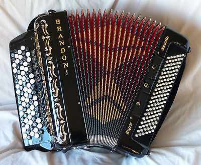Brandoni Super Musette Button Accordion 120 Bass C System