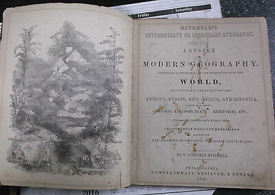 1854 Augustus Mitchell Intermediate Or Secondary World Geography