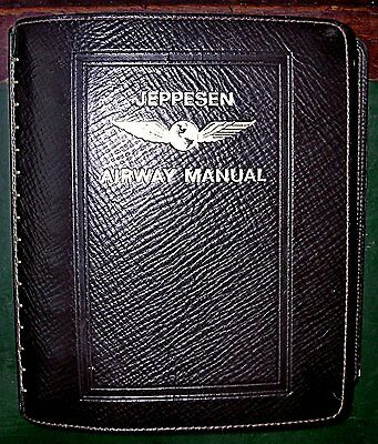 Jeppesen Airway Manual; USA 1976-1977 Leather Vintage