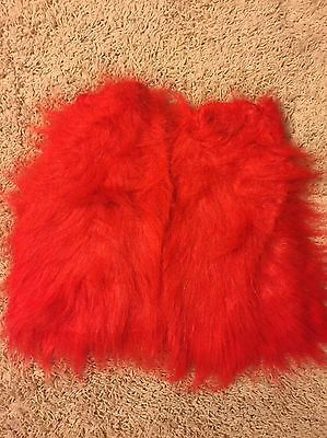 Red Furry Rave Booties