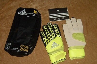 Adidas ACE FS Junior Size 7 football Goalkeeper Gloves Finger save Green new