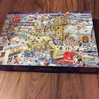 Mike Jupp's I Love Christmas Jigsaw Puzzle COMPLETE