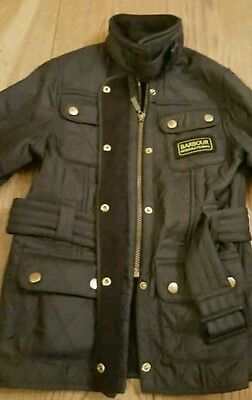 Barbour Jacket  Age 6/7 In Black