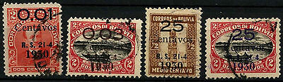 Bolivia 1930 SG#224-227 Surch Used Set #D39424