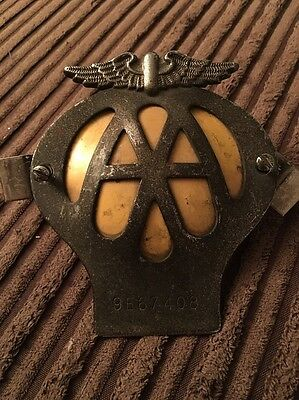 Vintage AA Car Badge With Screws And Fasteners