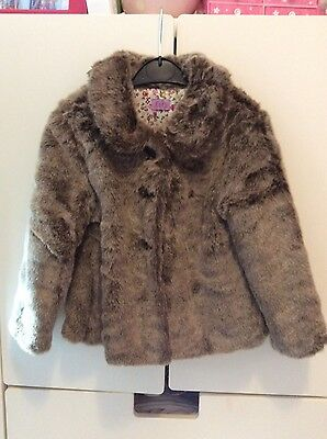 girls faux fur coat age 3-4