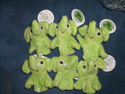 job lot  soft toys  12 elephants puppets