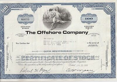 The Offshore Company.....1968 Stock Certificate