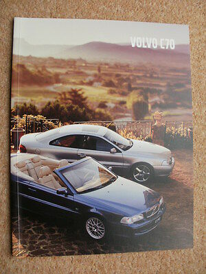 Genuine Original Volvo C70 brochure 2002