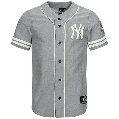 New York Yankees Majestic Plunder Shirt MLB Freizeit Baseball Jersey XS-2XL neu
