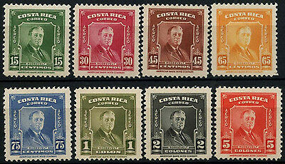 Costa Rica 1947 SG#451-8 Franklin D. Roosevelt MNH Sir Set #D39491