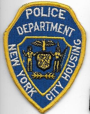 NYPD New York City HOUSING POLICE Patch  80er N.Y. Stoff-Polizei Abzeichen used
