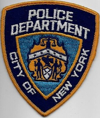 NYPD New York City  POLICE Patch  90er Jahre N.Y. Stoff-Polizei Abzeichen - used