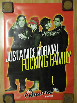 """Music Poster Ozzy Osbourne Family """"Just a Nice Normal F*cking Family"""""""