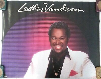 Vintage Music Poster Luther Vandross 1983