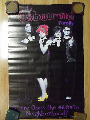 """Music Poster Ozzy Osbourne Family """"There Goes The Neighborhood!"""""""