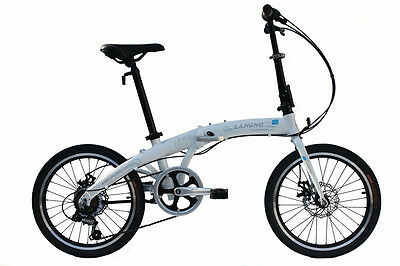 "Langno 20"" Wheel Lightweight Alloy Folding Bicycle Bike Disc Brakes,7 SP- F6.0W"
