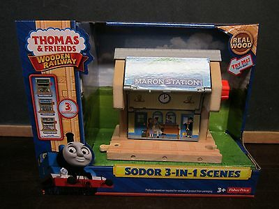 Thomas the Train Wooden Railway Moves NEW Sodor 3 in 1 scenes Maron station Ice