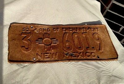 Vintage New Mexico 1953License Plate Number Is 3 6019.