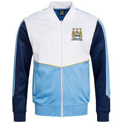 Manchester City FC Majestic Retro Track Top Man City Citizens Jacke MCFC Jacket
