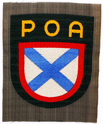Authentic WWII German Army 'RUSSIAN' Volunteer Woven Shoulder Insignia Patch