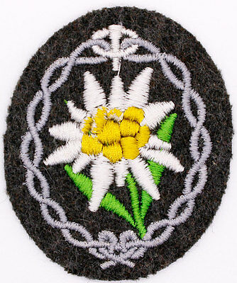 Authentic WWII German Army Mountain Troops Shoulder Insignia Patch