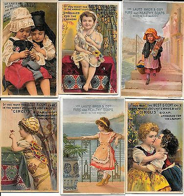 Lot 6 - VINTAGE TRADE CARD LAUTZ BROS CIRCUS SOAP NEW YORK