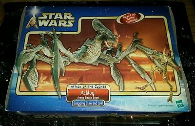 Star Wars Attack of the Clones - ACKLAY Arena Battle Beast Figure - NEW IN BOX