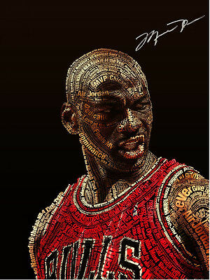 Michael Jordan Art NBA Print Hologram & Certificate Basketball