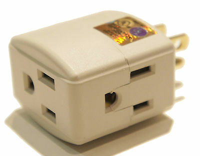 Electrical Power Outlet Current Power Tap 3 Way Splitter Right Angle Power Strip