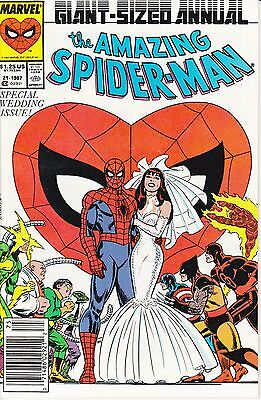 Amazing Spider-Man Giant Sized Annual  # 21, 1987; Spec Wedding Issue. NM Unread