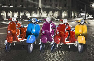 "VESPA SCOOTERS POSTER ""LICENSED"" BRAND NEW ""LARGE 61 cm X 91 cm"""