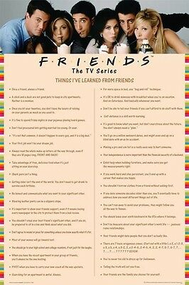 """FRIENDS POSTER """"THINGS I LEARNED PINK"""" LICENSED """"BRAND NEW"""" SIZE 61cm X 91.5cm"""