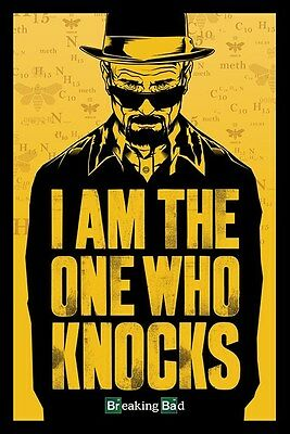 "BREAKING BAD POSTER ""LICENSED"" BRAND NEW ""I am the one who knocks"""