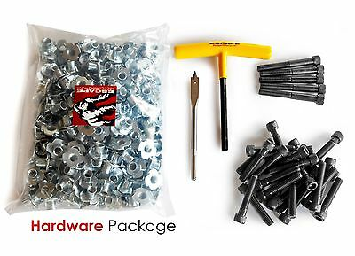 Rock Climbing Wall Hardware Package | 250 t-nuts, 30 bolts, drill bit, & wrench