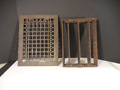 Antique Vent Cover w/ Louvre Box pat.1882 Vent Register