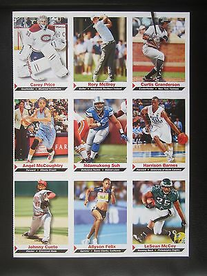 RORY MCILROY ROOKIE GOLF CARD UNCUT SHEET 2011 Sports Illustrated Kids SI PGA