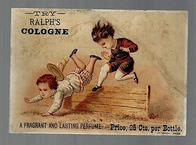 Ralph's Cologne late 1800's trade card #A