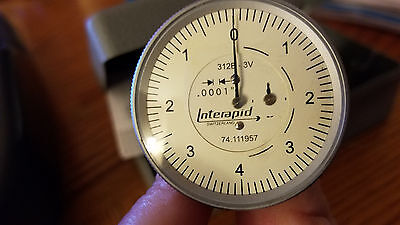 INTERAPID 312B-3V Vertical Type Dial Test Indicator - Graduation: .0001""