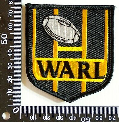 Vintage Warl Wa Rugby League Embroidered Souvenir Patch Woven Cloth Sew-On Badge