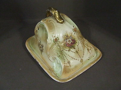 Antique Crown Devon Stoke On Trent England Banff Covered Butter Cheese Dish