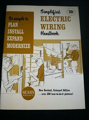 Vintage Sears Roebuck Simplified Electric Wiring Handbook 1964