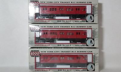 Red Bird New York City Transit R17 Subway Cars Walthers Proto # 920-31015 3 Cars