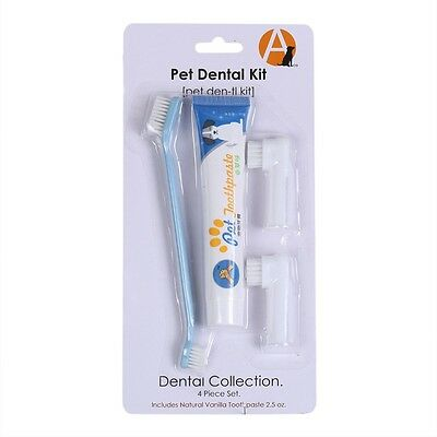 Puppy Pet Dog Toothpaste Chicken Flavour + Pet Toothbrush +Back Up Brush Set