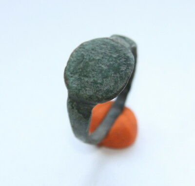 Ancient Old Medieval Bronze Ring (MJA55)