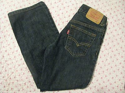 Levis 505 Relaxed Straight Fit Blue Jeans Kids Size 7 reg