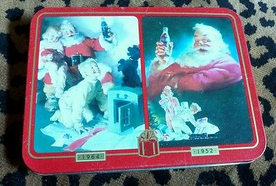 Set of Playing Cards in Tin with Christmas Santa Claus #A