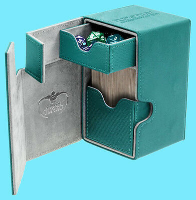 ULTIMATE GUARD FLIP n TRAY PETROL BLUE 100+ CASE XENOSKIN Standard Size Card Box